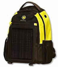 Yellow / Black SolarGoPack Backpack 10k mAh battery 5-Watt Solar Panel Back Pack