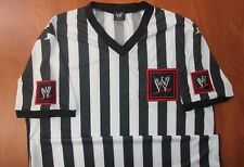 WWE Referee Stitched Logo Authentic T-Shirt L ~NEW~