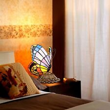 Bedroom Tiffany Table Light Stained Glass Lamp Shade Bedside Lamps Butterfly