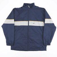 NIKE Navy Blue Embroidered Logo Full Zip Sports Track Jacket Men's Size Large
