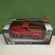 NEW MAISTO PREMIERE DC 1948 FORD  F-1 PICKUP TRUCK DIECAST RED 1:25 SHIPS FREE