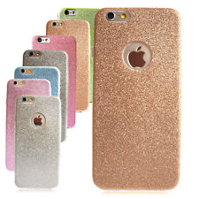 Samsung / Apple iPhone Phone Glitter Case TPU Bling Silicone Soft Plain Cover