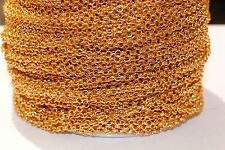 10ft 2mm Iron Gold Rolo Cable Chain-unsoldered 1-3 day Shipping