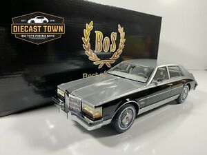 Pre-Order 1/18 Scale 1980 Cadillac Seville Gray Metallic/Black by BoS Models