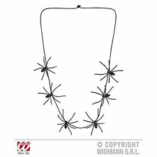 Spider Necklaces 60cm Jewellery Halloween Fancy Dress Costume Accessory