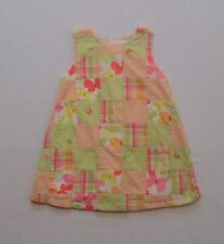 "Gymboree ""Social Butterfly"" Plaid Gingham Floral Butterfly Patchwork Dress, 2T"