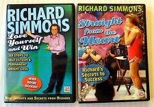 Richard Simmons Straight from the Heart & Love Yourself DVD Lot Workout Exercise