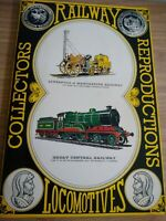 Railway Locomotives Collectors Reproductions Complete Postcard Book