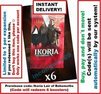 MTG Arena Code: 6 Boosters. Ikoria Lair of Behemoths Prerelease INSTANT DELIVERY