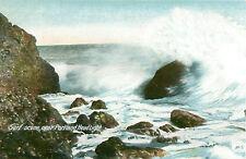 Surf Scene Near Portland Head Light Maine Postcard