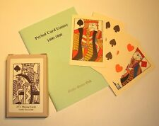 C17th/C18th Civil War/Napoleonic/Regency playing cards + card games rules book