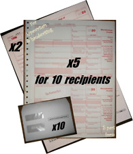 2020 IRS TAX FORMS KIT:: 1099-MISC Carbonless 10recipients +10envelopes +(1)1096