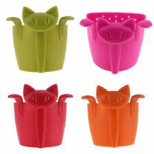 Drinkware Accessories Coffee Tea Infuser Strainer Cartoon Plastic Teabags Filter