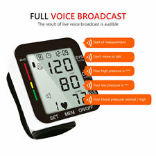 Digital Wrist Blood Pressure Arm Pulse Monitor Meter Sphygmomanometer