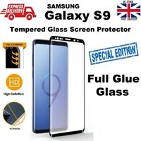 Bubble Free Full Sticky Tempered Glass Screen Protector For Samsung Galaxy S9
