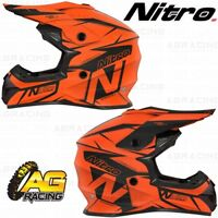 Nitro 2019 Adult Helmet MX 620 Podium Black Orange Motocross Enduro Quad ATV