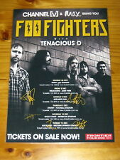 FOO FIGHTERS - SIGNED AUTOGRAPHED 2011 Australia Tour Poster - Laminated