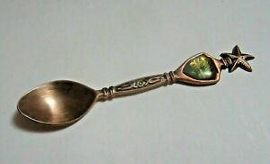 Rose Gold Coloured Collectable Spoon - Antigua - Printed On Back  'AGift Corp'