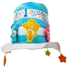 CARE BEARS 1st BIRTHDAY BOY BLUE FELT HAT ~ First Party Supplies Favor Gift
