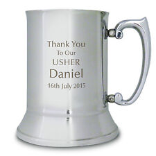Personalised Engraved Usher Tankard - Thank You, Wedding, Brother, Son, Friend