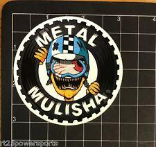 Metal Mulisha Boys Crash Sticker White 3 Inch