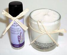 THE HEALING GARDEN Essential Bath Oil WHITE LAVENDER New 15 ml Bonus Candle