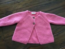 Next *Pink Heavy Knitted Cardigan* Age 3-6mths
