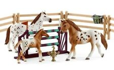 NEW Schleich Lisa's Tournament Training Horse Pony Fence Set 42433 Jump NEW 2018