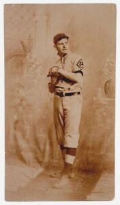 1910 Brooklyn Superbas, Original Cabinet Photo, Possibly Zack Wheat, 3 5/8 x 6.5