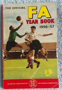 VINTAGE OFFICIAL  FOOTBALL ASSOCIATION YEAR BOOK 1956-57