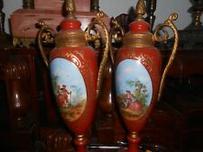 New listing Gorgeous Pair antique French portrait vases