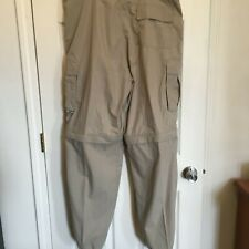 No Fear  Cargo Pants Mens Gents Chinos  Trousers Cotton Zip size XL Khaki