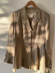 Vintage green cotton minimalist blazer jacket Size L