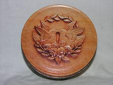 Vintage wood grain Love Birds Tin.