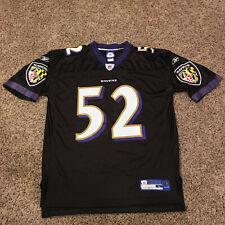 Baltimore Ravens Ray Lewis #52 Reebok NFL Football Jersey Black Men's Size Large