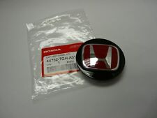 "GENUINE HONDA TYPE R BLACK WHEEL CENTER CAP W/ RED ""H"" 44732-TGH-A01"