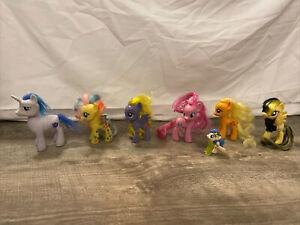 My Little Pony Lot Of 7 Applejacks Fluttershy Shinning Armor