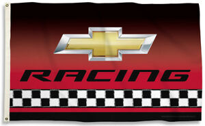 Chevy Racing Chevrolet Red Bow Tie 3'x 5' Flag GM IndyCar Indy 500 Pace Car