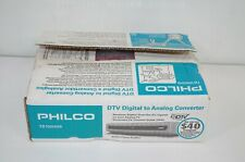 Philco TB100HH9 DTV Digital to Analog TV Converter with Remote NEW