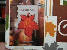 "Kirkland's Fall Autumn Leaf Harvest Garden Flag with Stand Initial ""A"""