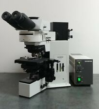 Olympus Microscope BX50 with DIC, Fluorescence, and Trinocular Superwide Head