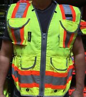SV55 Two Tone Engineer vest CLASS 2 / ANSI/ISEA 107-2015