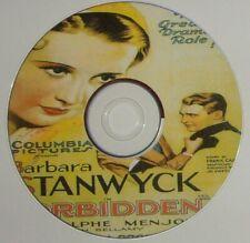 PRE-CODE 17: FORBIDDEN 1932 Frank Capra, Barbara Stanwyck, Menjou, Bellamy