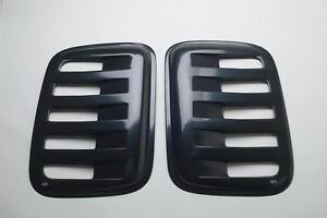 Auto Ventshade Aeroshades Rear Side Louvered Black Paintable 97410