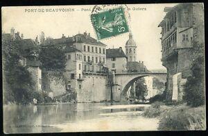 38  PONT DE BEAUVOISIN   pont et le guiers   (86)