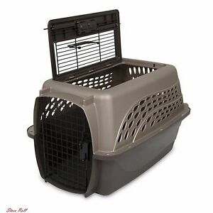 Dog Crate Small Kennel Travel Training Supplies Outdoor Indoor Plastic Carrier