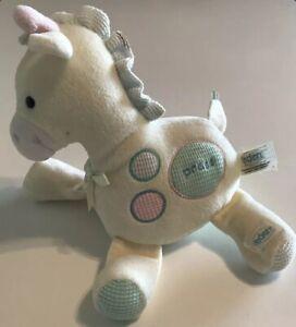 Musical Giraffe Baby Crib Pastel Yellow Pink Blue Eden Plush Lovey Toy Rockabye