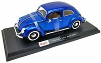 Maisto 1:18 Diecast 2020 Special Edition Blue Volkswagen Kafer Beetle EXCLUSIVE