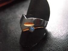 Eleganter Ring aus Goldschmiede aus 925er Silber mit Opal,Weite 55,bicolor