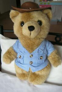 NRMA Care Flight bear Careflight Aussie brown arkubra bush hat blue shirt 36cms